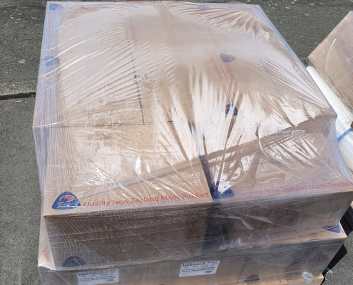 Polyethylene Pallet caps, manufactured by Flexoplas Packaging Limited